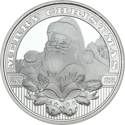 Silver Christmas Rounds
